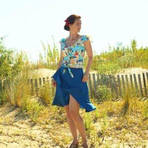 Strandbluse und Wickelrock